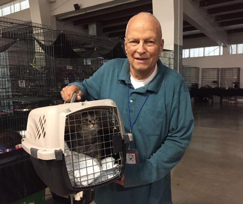 Cat Volunteer at Utah Animal Adoption Center Event